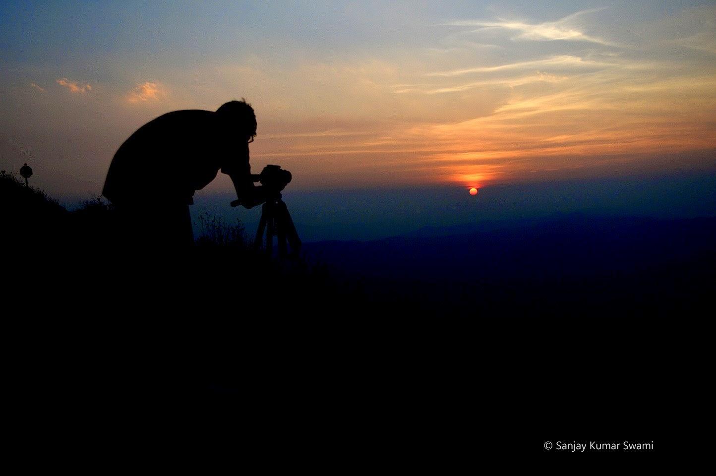 Photographer taking photo