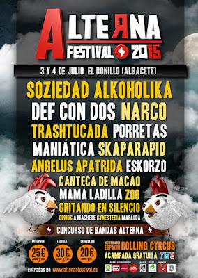 Alterna Festival 2015 3 y 4 de Julio El Bonillo (Albacete)