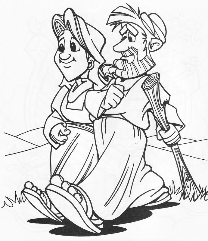 Abraham and his wife coloring pages