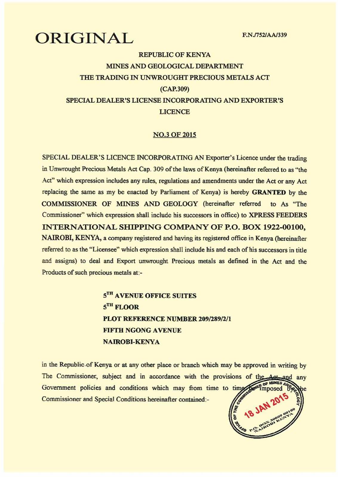 Consumer Watchdog A Gold Scam From Wanjala Geofrey