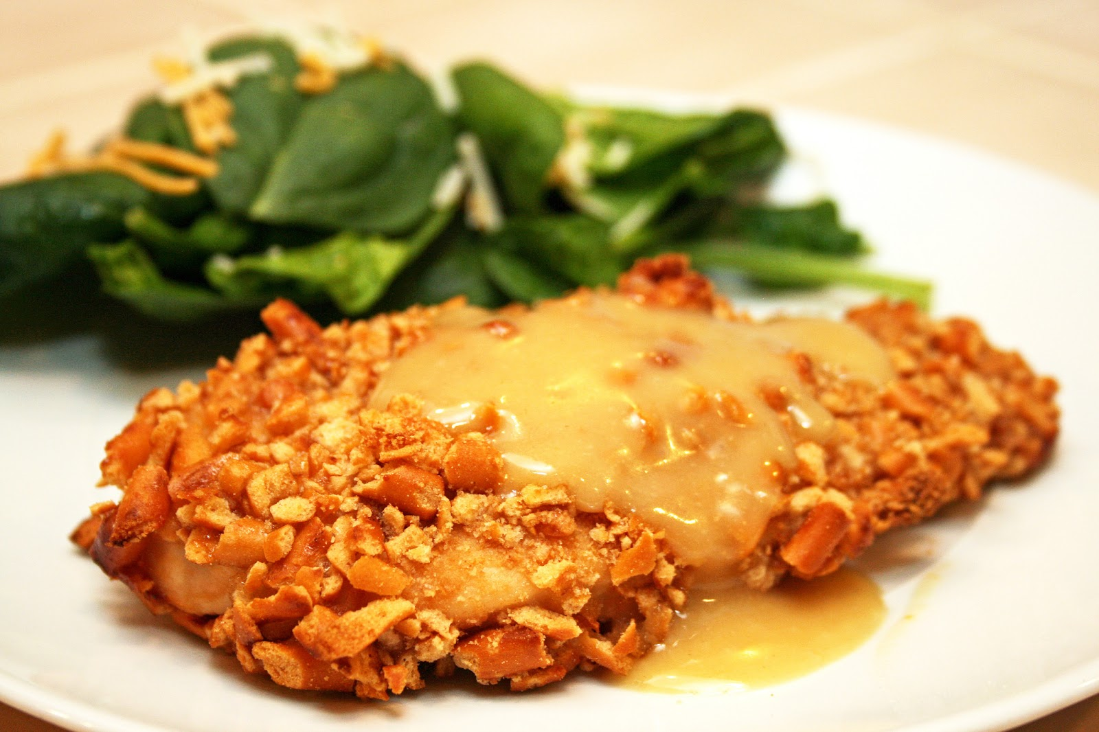 Lazy Gluten Free: Honey Dijon Pretzel Chicken