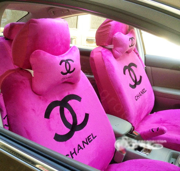 Pink Car Seat Cover Keys Exposed