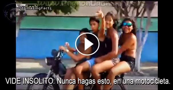 VIDE INSOLITO: Nunca hagas esto, en una motocicleta.
