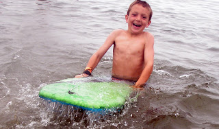 Boogie boarder at Aloha Beach Camp Summer Camp.