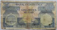 Uang kertas seri Bunga Rp.500 th.1959