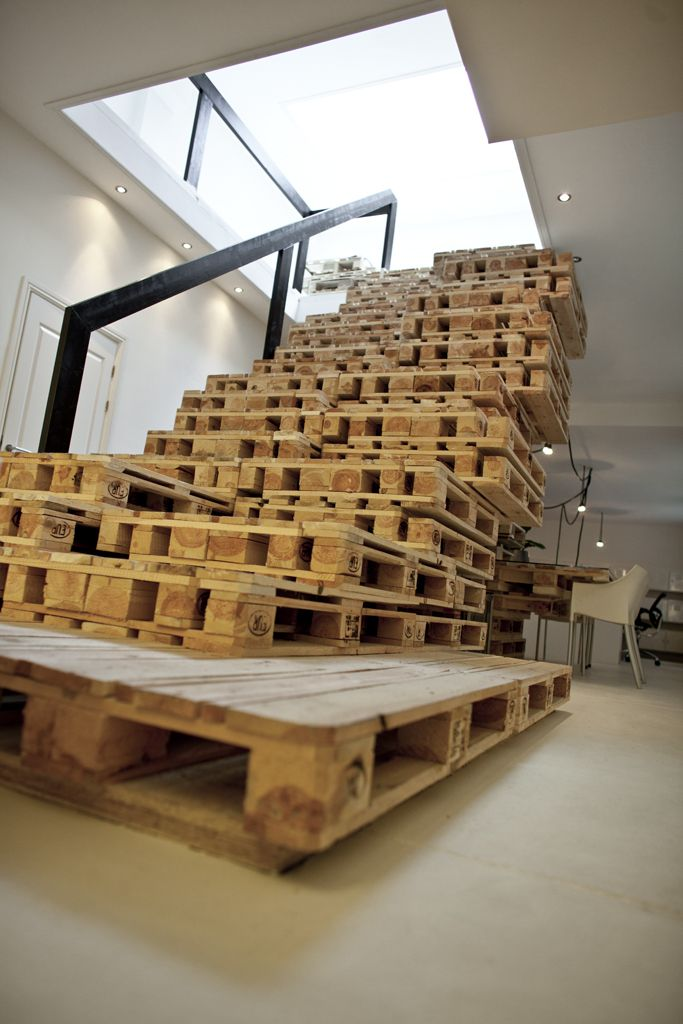 Lovely Very Cool Staircase Out Of Shipping Crates.