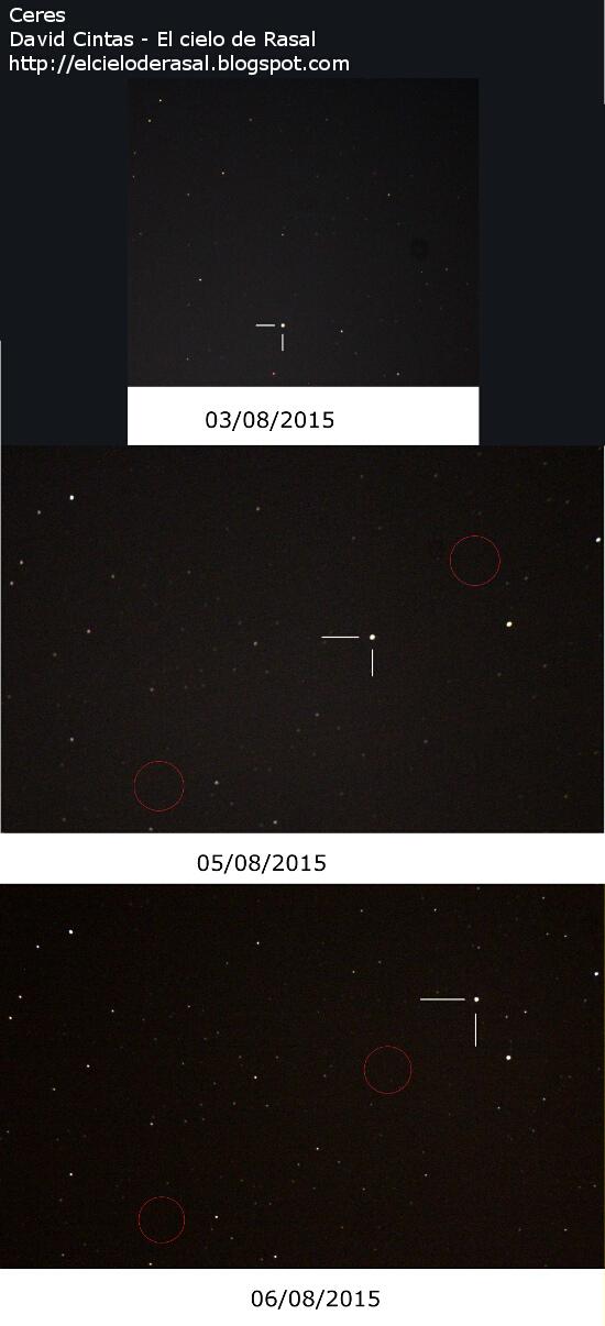 Ceres planeta enano - El cielo de Rasal