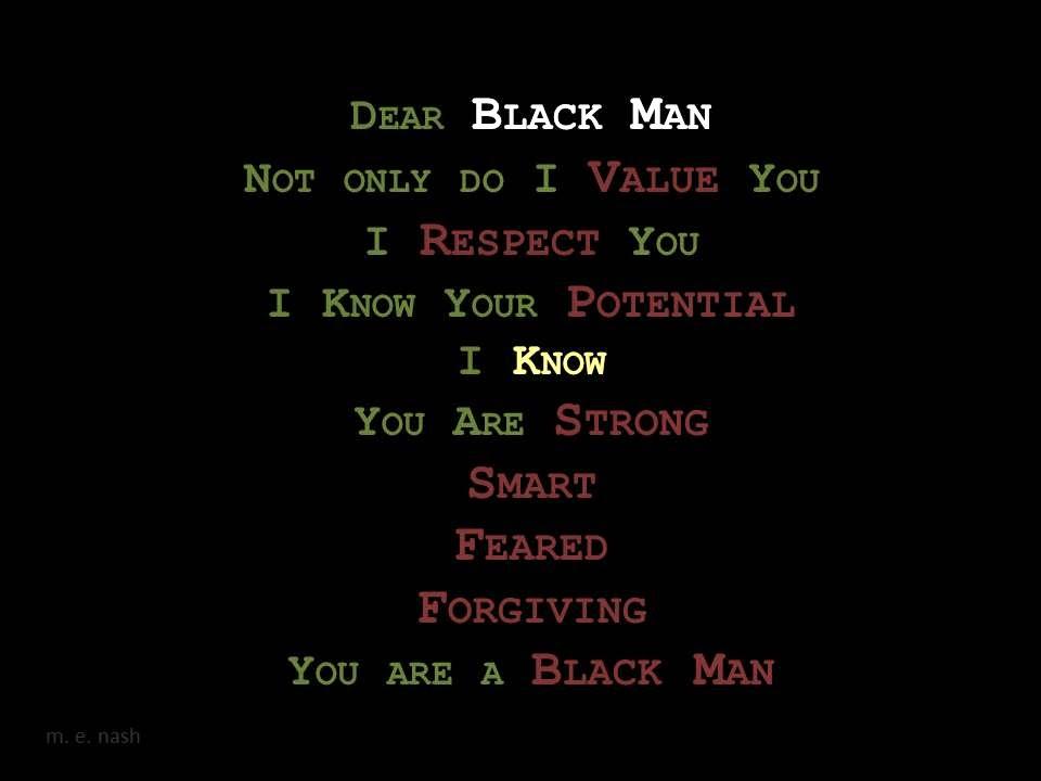 my black man