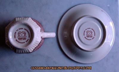 5 Set Cangkir Keramik NORITOKI Japan Antik