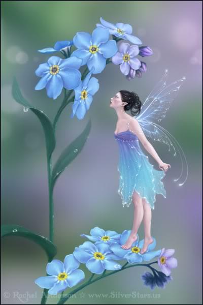 imágenes de hadas en flores