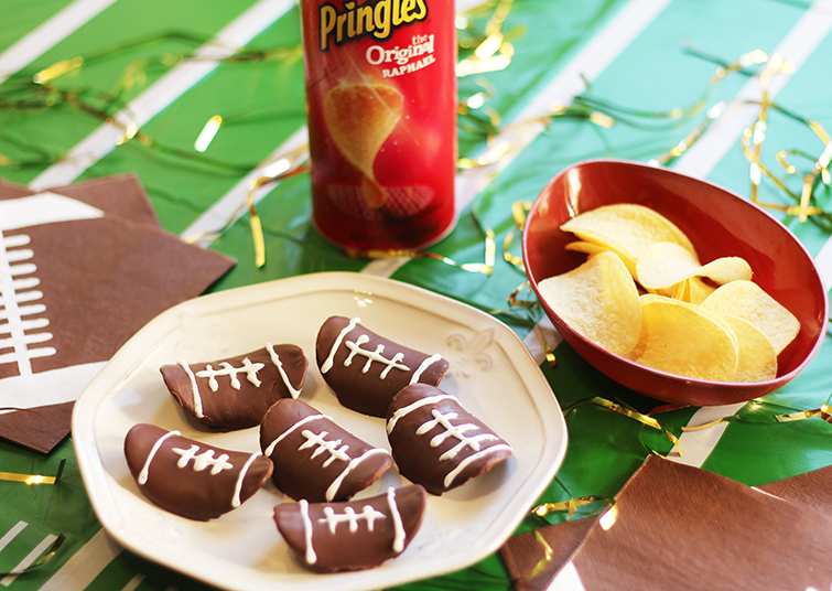 football shaped snack and dessert tutorial