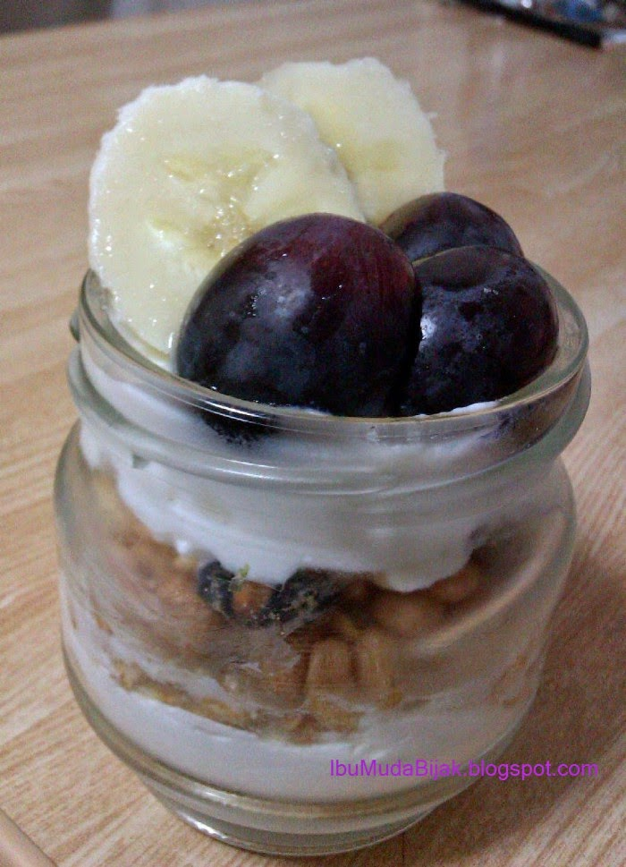 Yogurt And Cereal In Jar