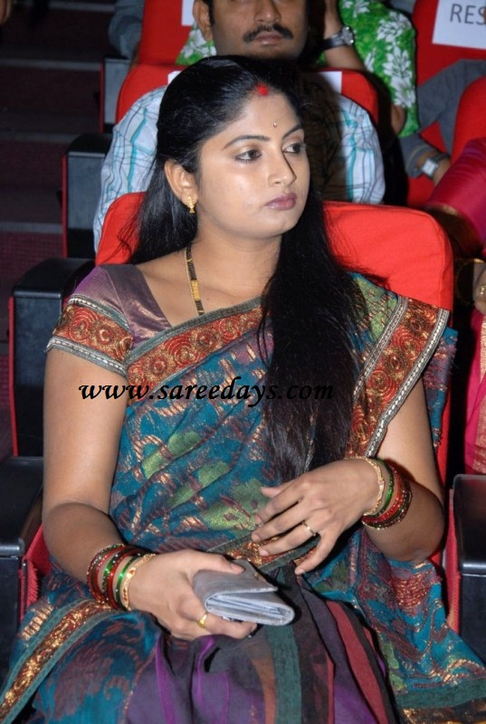 Checkout Telugu Actress In Blue Banarasi Saree With Patchwork