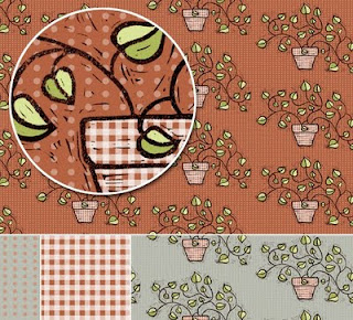 potted plant surface design pattern
