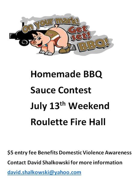 7-13 Homemade BBQ Sauce Contest