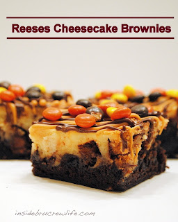 Reeses Cheesecake Brownies by Inside Brucrew Life