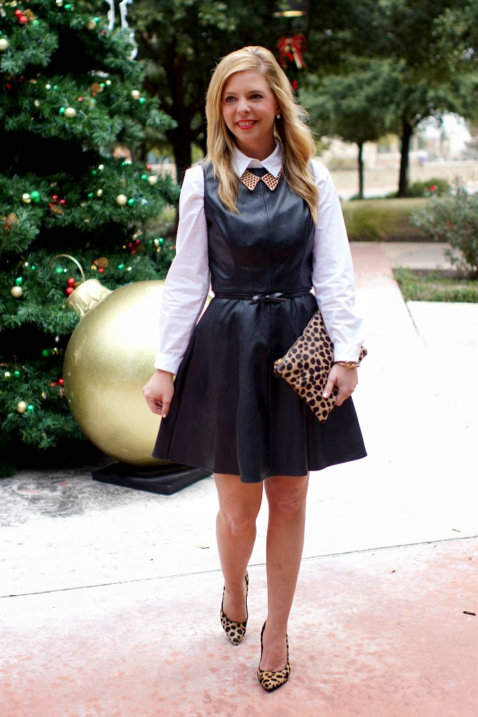 How to layer a sleevless dress for fall and winter