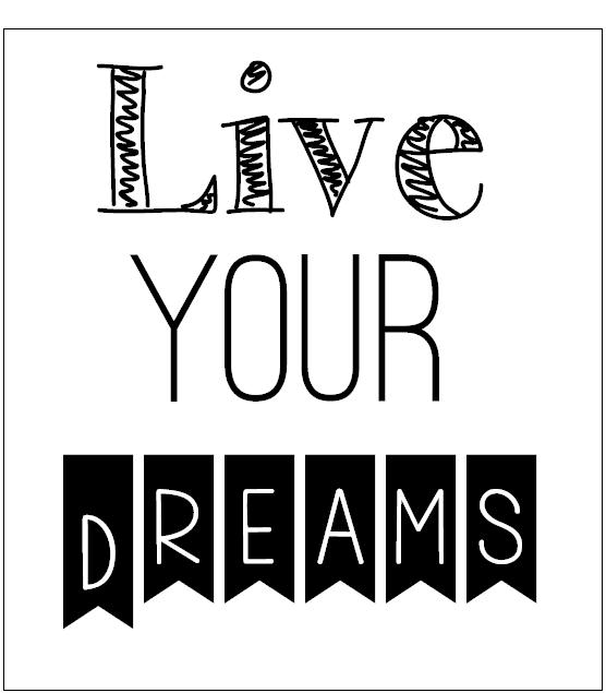 lámina Follow your dreams decorar