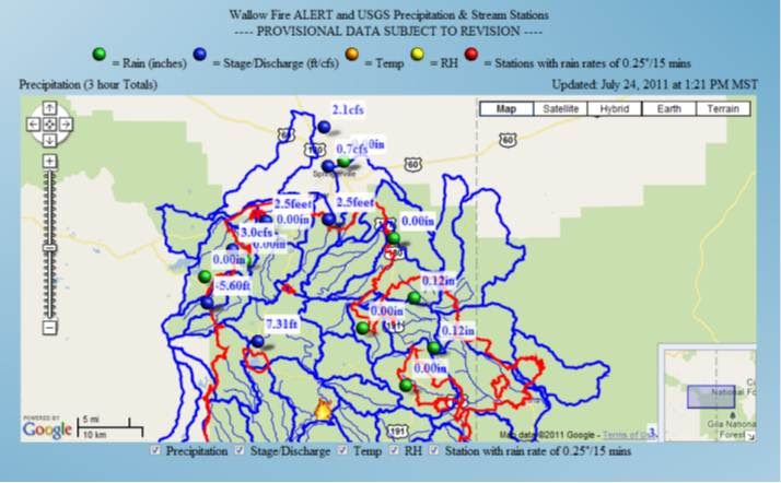 arizona geology flash flood alert site for wallow and schultz fire areas. Black Bedroom Furniture Sets. Home Design Ideas