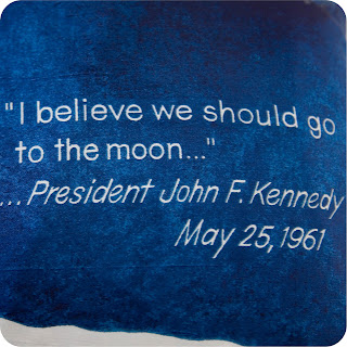 Kennedy quote 1961 apollo moon cushion vintage