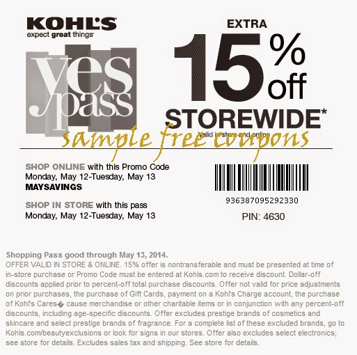 Kohls free shipping coupons 2018