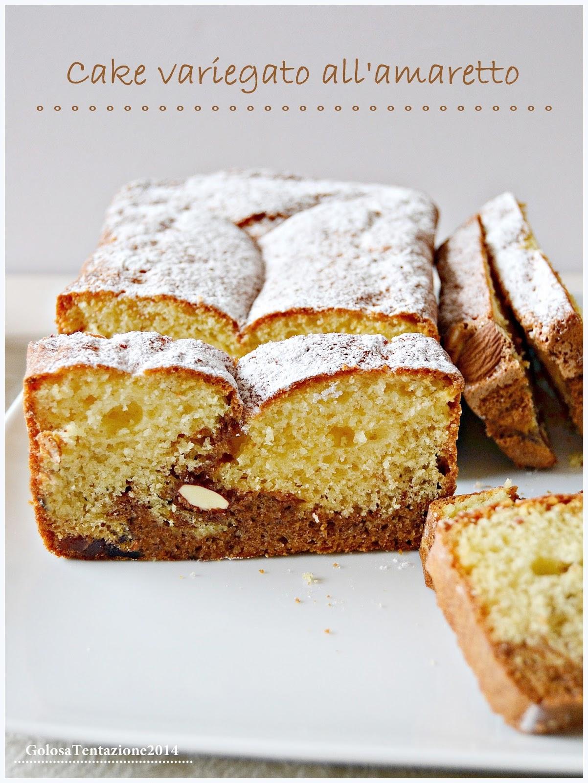 cake variegato all'amaretto