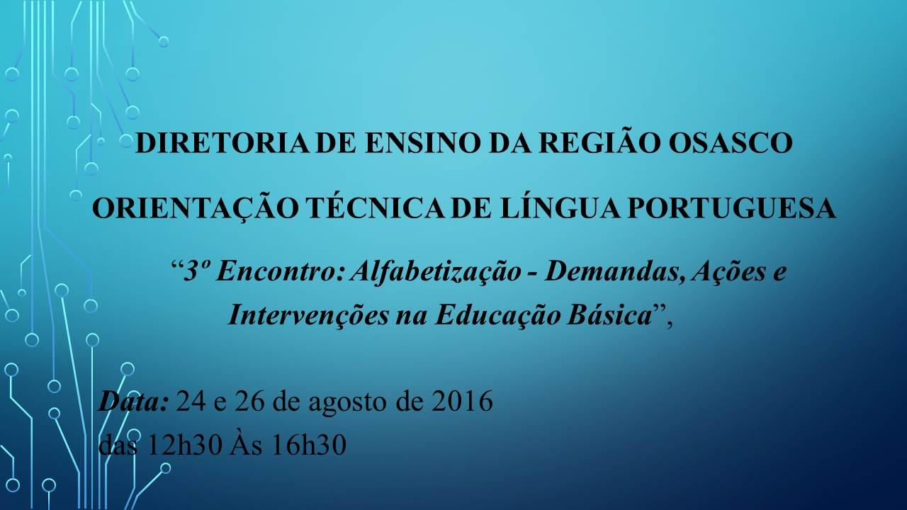 PPT 3ª OT com Professores de Língua Portuguesa