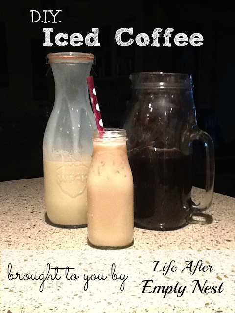 Cold Brewed Iced Coffee brought to you by Life After Empty Nest. Best Iced Coffee you'll EVER make at home