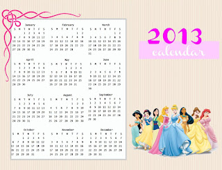Free Printable 2013 Calendar For Kids
