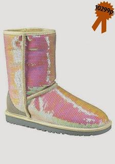 Зимняя обувь, замшевые на овчине с пайетами-хамелеонами UGG Australia