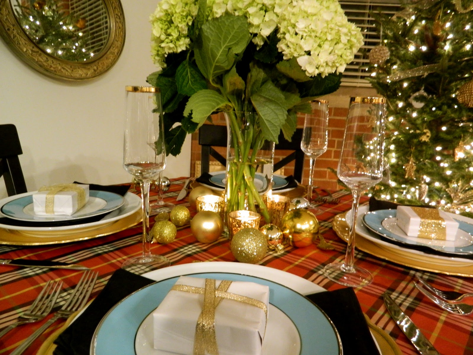 Sadie Stella S S Plaid Christmas Tablescape