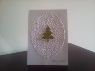 Christmas Card, Stampin Up, Scentsational Season, Embossed Card