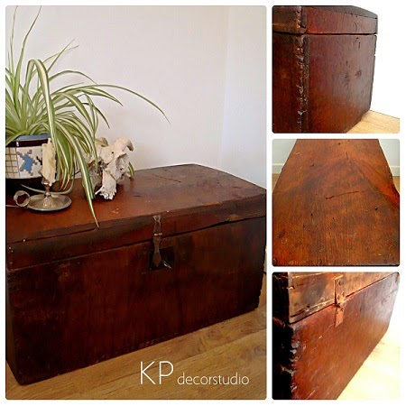 Kp tienda vintage online ba les antiguos vintage trunks - Baules baratos madera ...