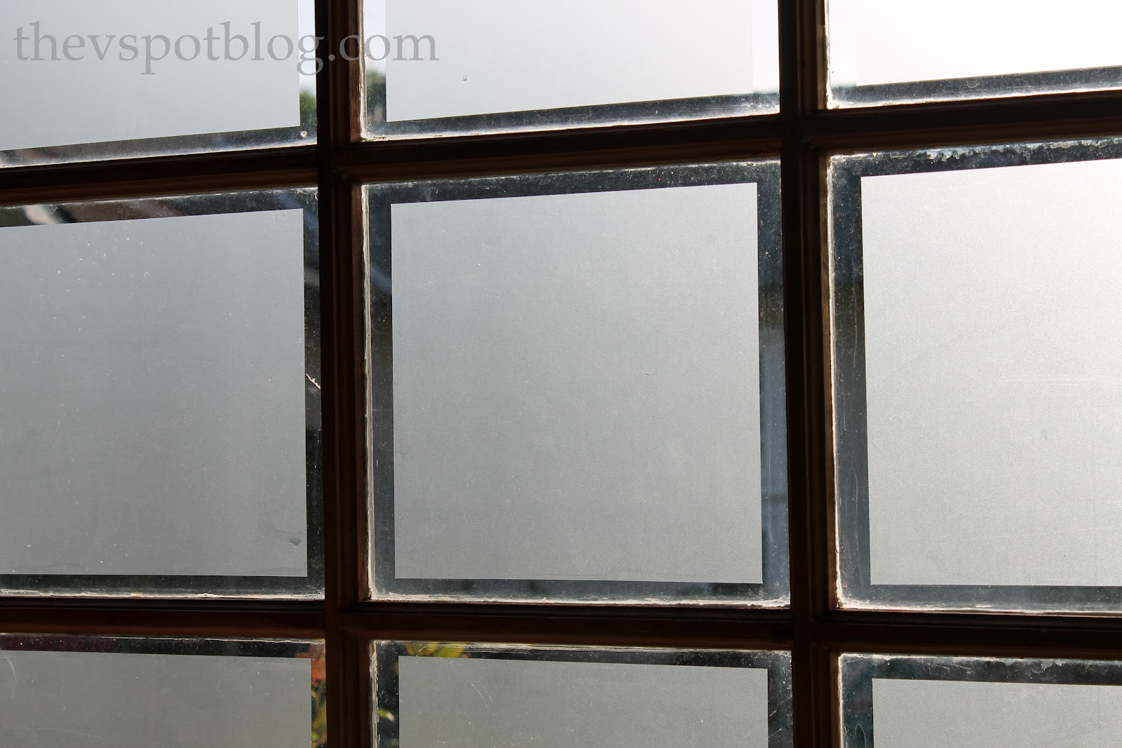 Frosted glass front door - Frosted Glass Window Film Adds Privacy To Garage Windows