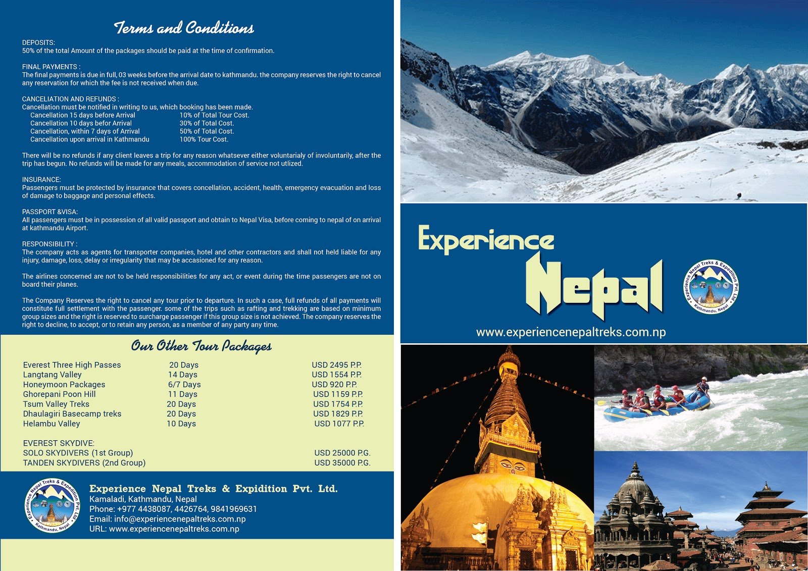 Experience Nepal Treks \u0026 Expedition: Himalayan Adventure Sports Nepal