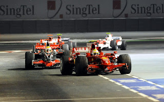 Formula One action shot