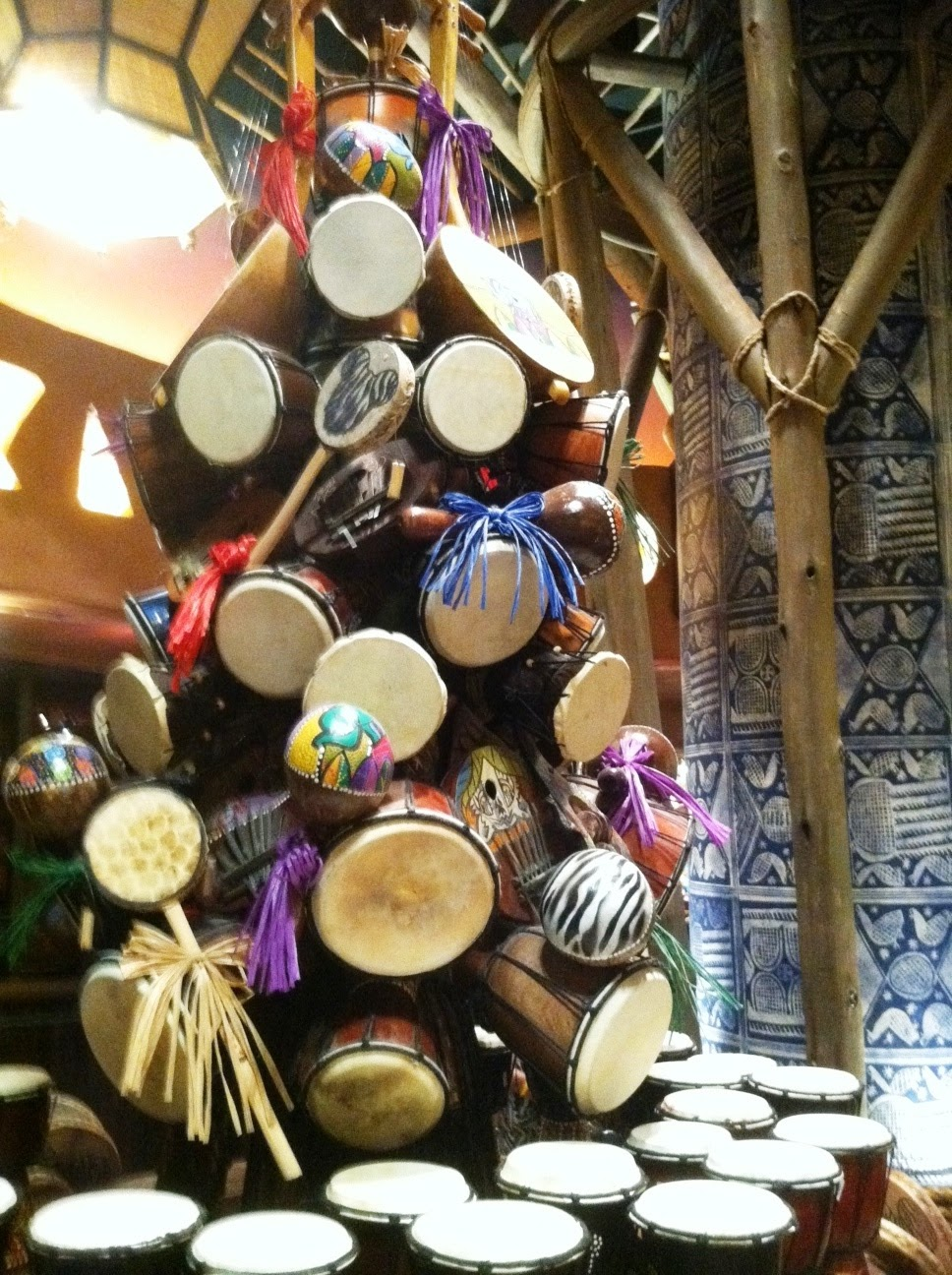 Drum tree, Zawadi Marketplace, Animal Kingdom Lodge