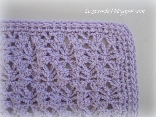 Lacy Crochet: Lacy Baby Blanket Tutorial, Step 9 (the ...
