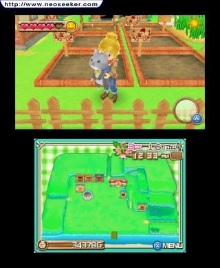 3DS Harvest Moon 3D A New Beginning Screenshot