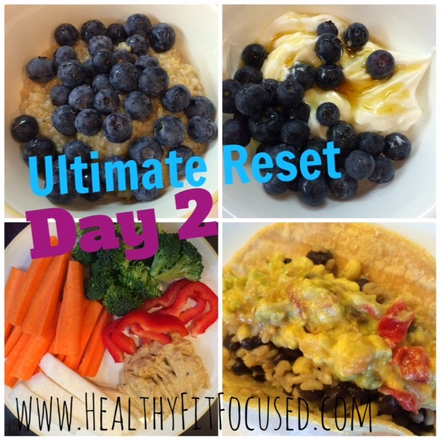 Day 2 meals on Ultimate Reset, www.HealthyFitFocused.com