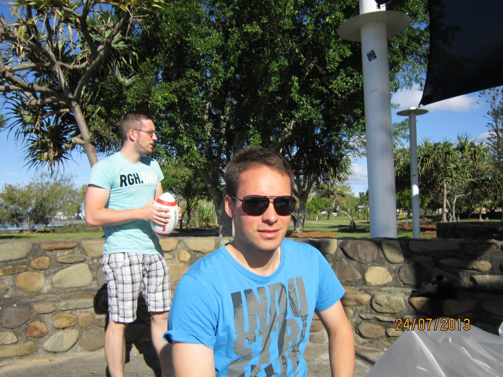 Das Wolfsrudel Erobert Australien Grillen Party Strand