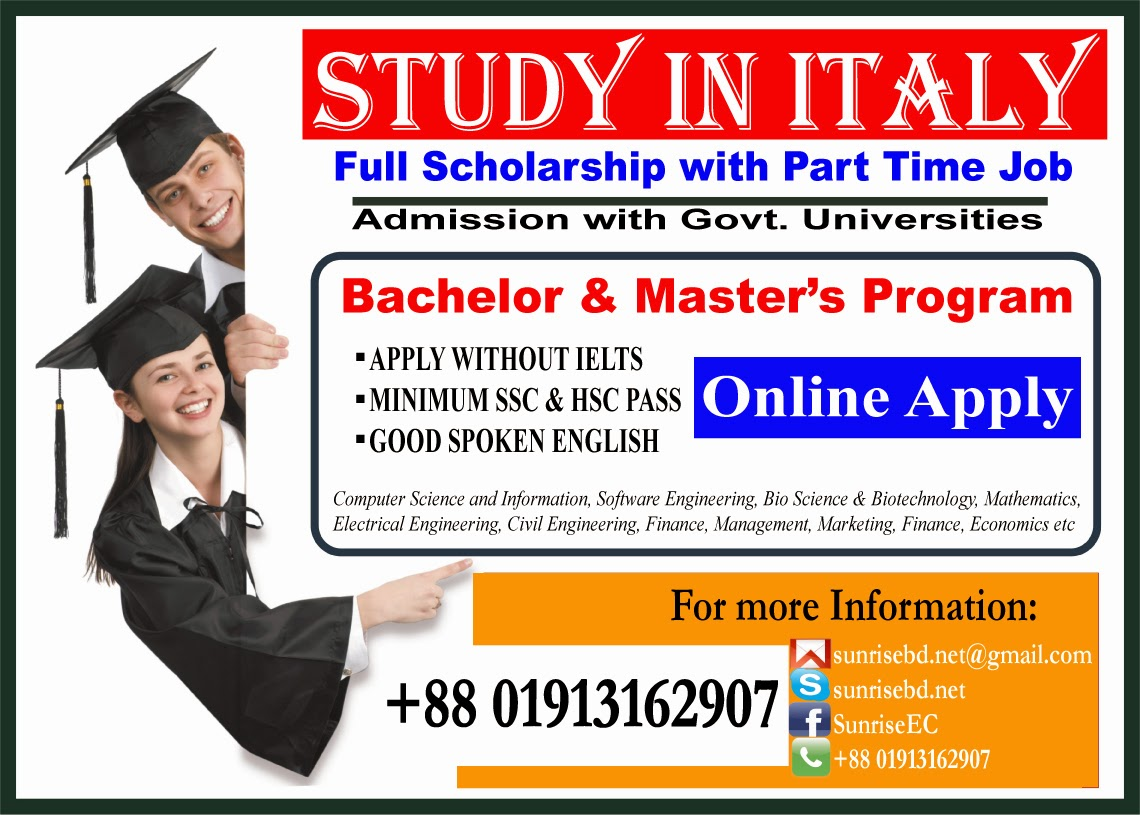 Study Abroad in Italy, Student Visa Process Italy bd, italy student visa requirements, italy student visa