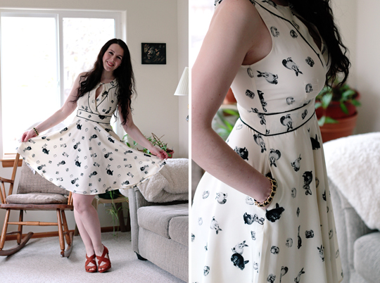 eShakti spring bunny rabbit dress