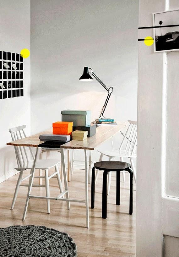 muitas ideias para apartamento pequeno - espaços coloridos - quadro negro