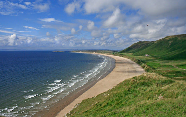 Rhossili Bay, Gower, Wales. Often named the best beach in the Uk and in the top 10 best beaches in the world