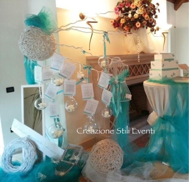 Partecipazioni Matrimonio Azzurro Tiffany : Creazione stili eventi ancora matrimonio tiffany corredo