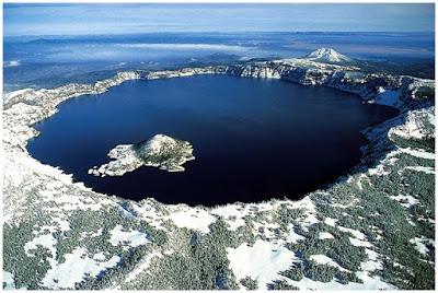 Crater Lake Caldera, caldera, lake, crater, danau, kaldera, nature,