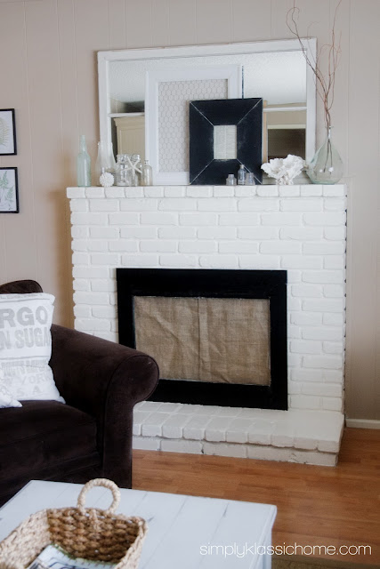 Another Summer Mantel and a Little Less Paint