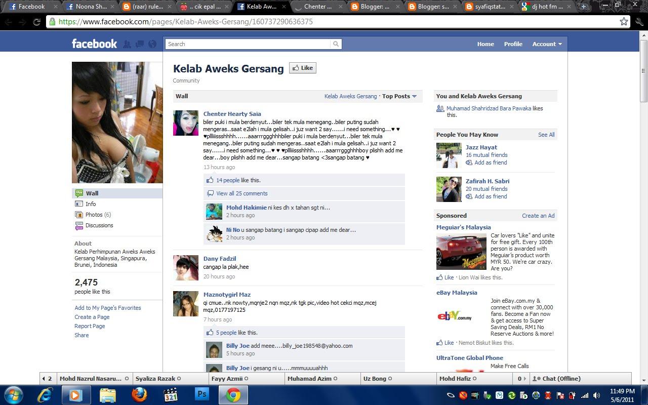 Kelab Aweks Gersang di Facebook???