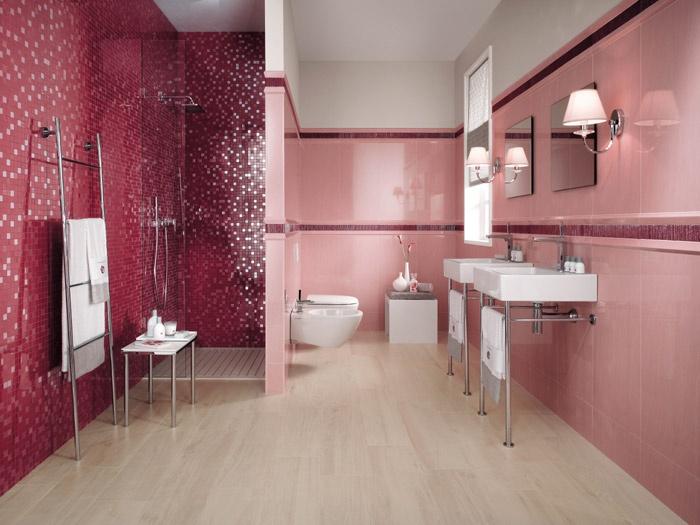Azulejos Baño Juvenil:Baños en Color Rosa